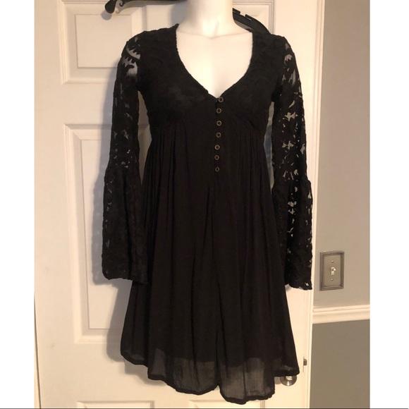 3bbda7b1 Xhilaration Dresses   Target Black Lace Bell Sleeve Dress   Poshmark